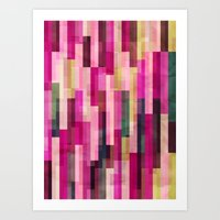 Pinks And Parallels Art Print