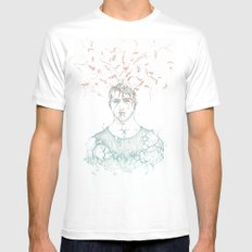 Data Fragmentation  SMALL White Mens Fitted Tee