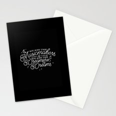 We are the dreamers of dreams Stationery Cards