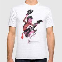 Giddy Up Mens Fitted Tee Ash Grey SMALL