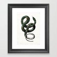 Jungle Snake Framed Art Print
