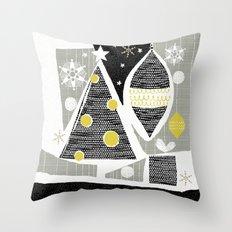 achromatic holidays Throw Pillow