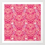 Wallpaper Skulls Art Print