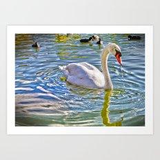 Surreal Swan Art Print