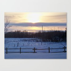 in the middle of nowhere i found myself Canvas Print