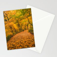New York City Autumn Dusk in Central Park Stationery Cards
