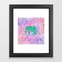 Elephant in Paisley Dream Framed Art Print