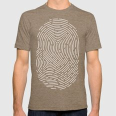 Fingerprint Mens Fitted Tee Tri-Coffee SMALL