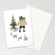 Bear, Christmas Tree and Bunnies Stationery Cards