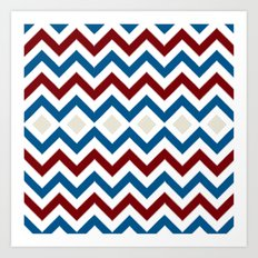 Nautical Chevron Art Print