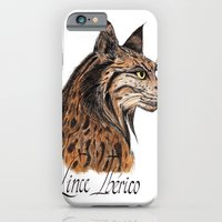 iPhone & iPod Case featuring Iberian Lynx Profile by  MaiCat