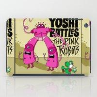 Yoshi Battles The Pink Robots iPad Case