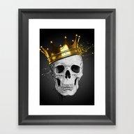 Royal Skull Framed Art Print