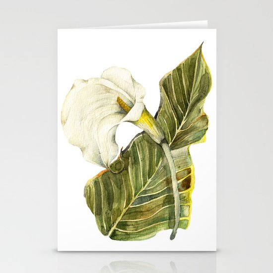 White Calla Lily Stationery Card