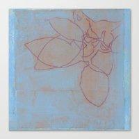 Leaves in Blue II Canvas Print