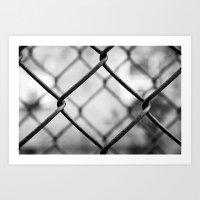 Fenced In, New York City  Art Print