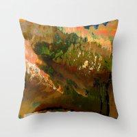 06-04-18 (Mountain Glitch) Throw Pillow
