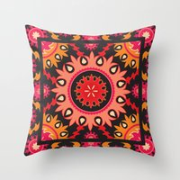 Ethnic asian ornament Throw Pillow