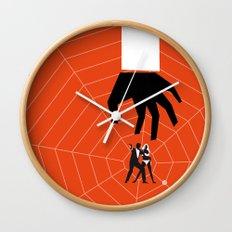 Orange Dr No Wall Clock