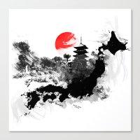Abstract Kyoto - Japan Canvas Print