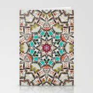 Six Point Tile Abstract Stationery Cards