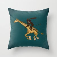 Run Through The Jungle Throw Pillow
