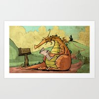 A Dragon's Trek  Art Print