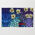 You Cant Hide Beautiful - Lively floral by Labor of Love artist Sharon Cummings. Rug