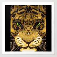 Art Print featuring Tiger Mandala by SwanniePhotoArt