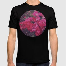 Faded Floral Mens Fitted Tee Black SMALL