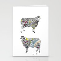 Quilted Sheep Stationery Cards