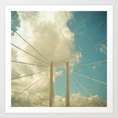 Over the Bridge Art Print