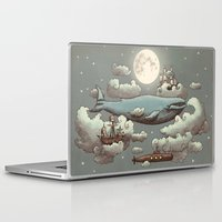 pop art Laptop & iPad Skins featuring Ocean Meets Sky by Terry Fan