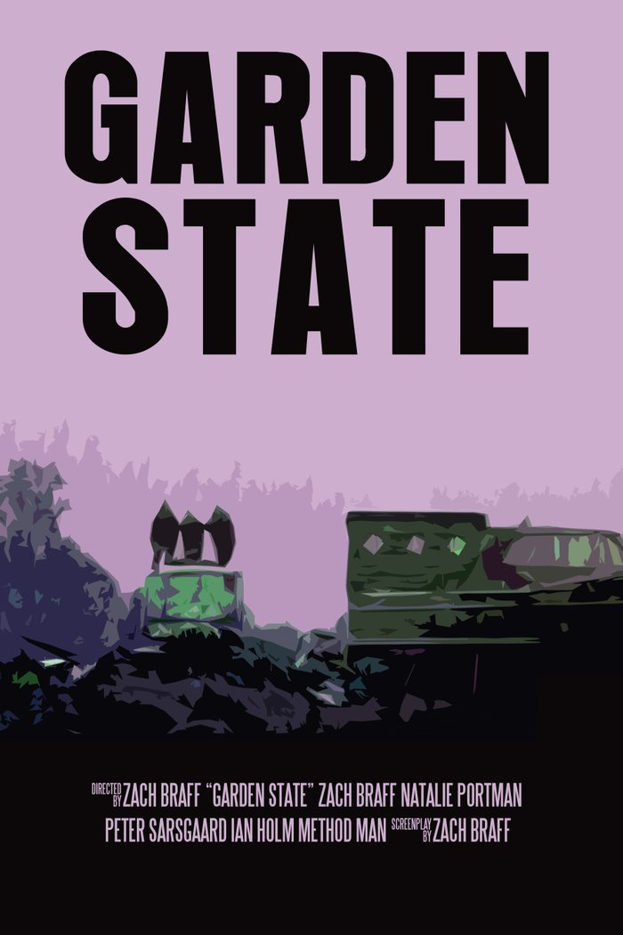 Garden State Movie Poster Art Print by FunnyFaceArt | Society6