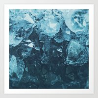 Aquamarine Gem Dreams Art Print