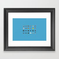 8-BIT Retro Console & Game Framed Art Print