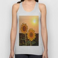 Couple Of Sunflowers Unisex Tank Top