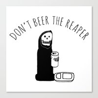 Don't Beer The Reaper Canvas Print