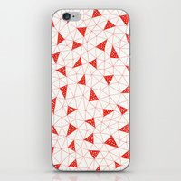 Red Tiangles iPhone & iPod Skin