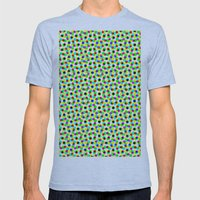COLORFUL DOT Mens Fitted Tee Athletic Blue SMALL