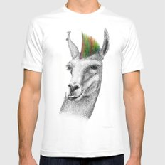 Llamahawk SMALL White Mens Fitted Tee