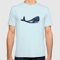 Moby and Friends Mens Fitted Tee Light Blue SMALL