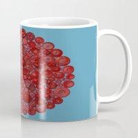 Red On Blue Mug