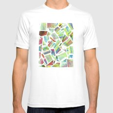 Collage White Mens Fitted Tee SMALL