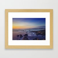 Sunset by the Sea Framed Art Print