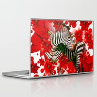 zebra Laptop & iPad Skins featuring Zebra by Saundra Myles