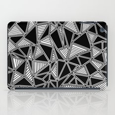 Abstract Outline Lines Black iPad Case