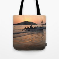 Returning from Dolphin Trip Palolem Tote Bag