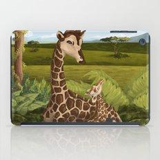 Giraffes, A Mother's love iPad Case