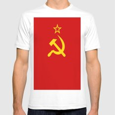 Flag of USSR Mens Fitted Tee White SMALL